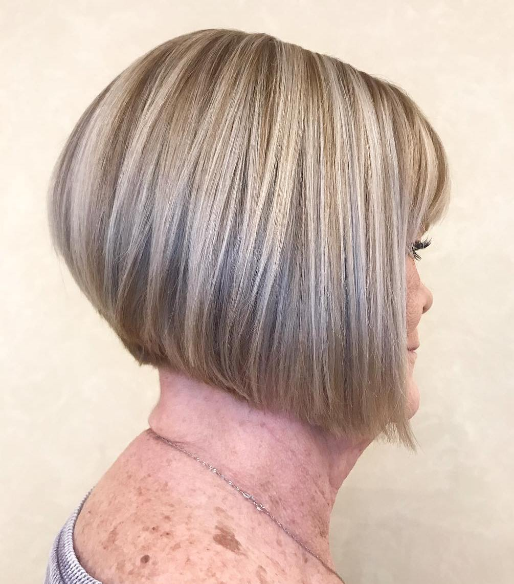 Short Blonde Hairstyle for Older Women