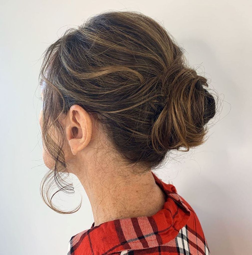 Simple Low Bun for Wedding