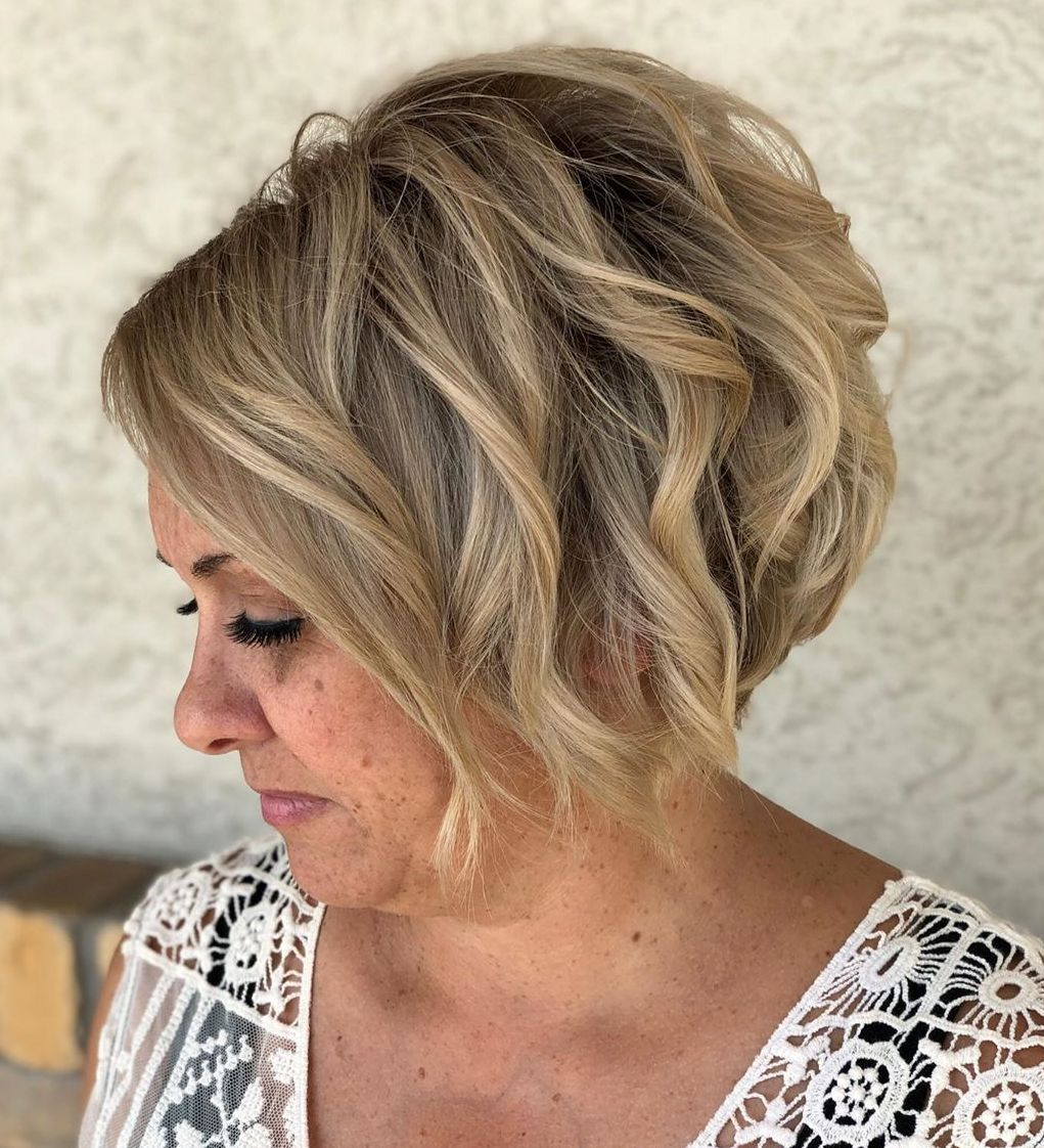 Blonde Balayage for a Middle Aged Woman