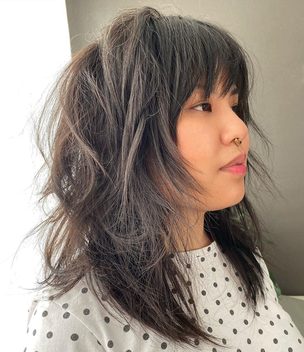 Low-Maintenance Medium Shag with Bangs
