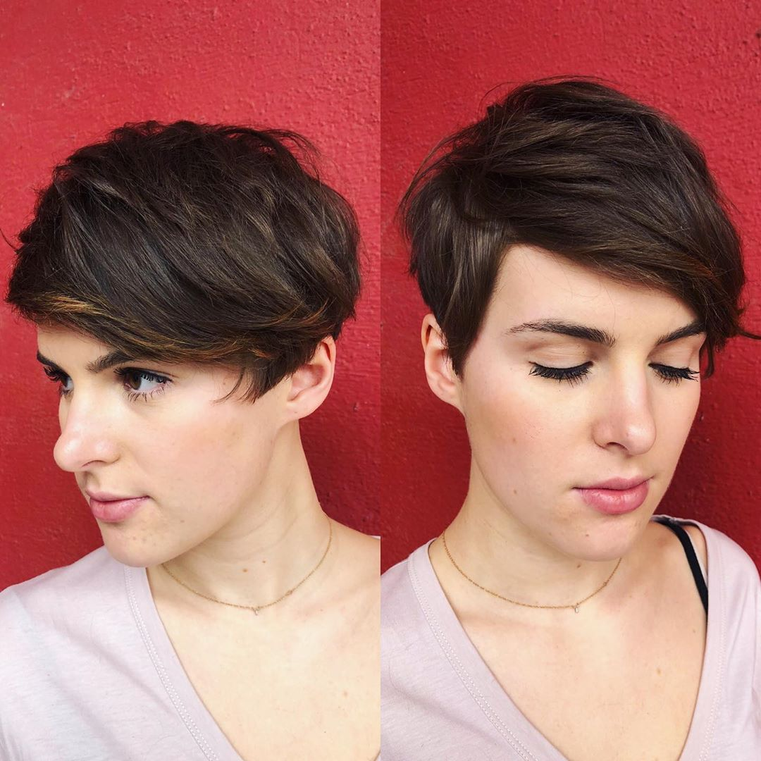 Pixie Hairstyle with Babylights