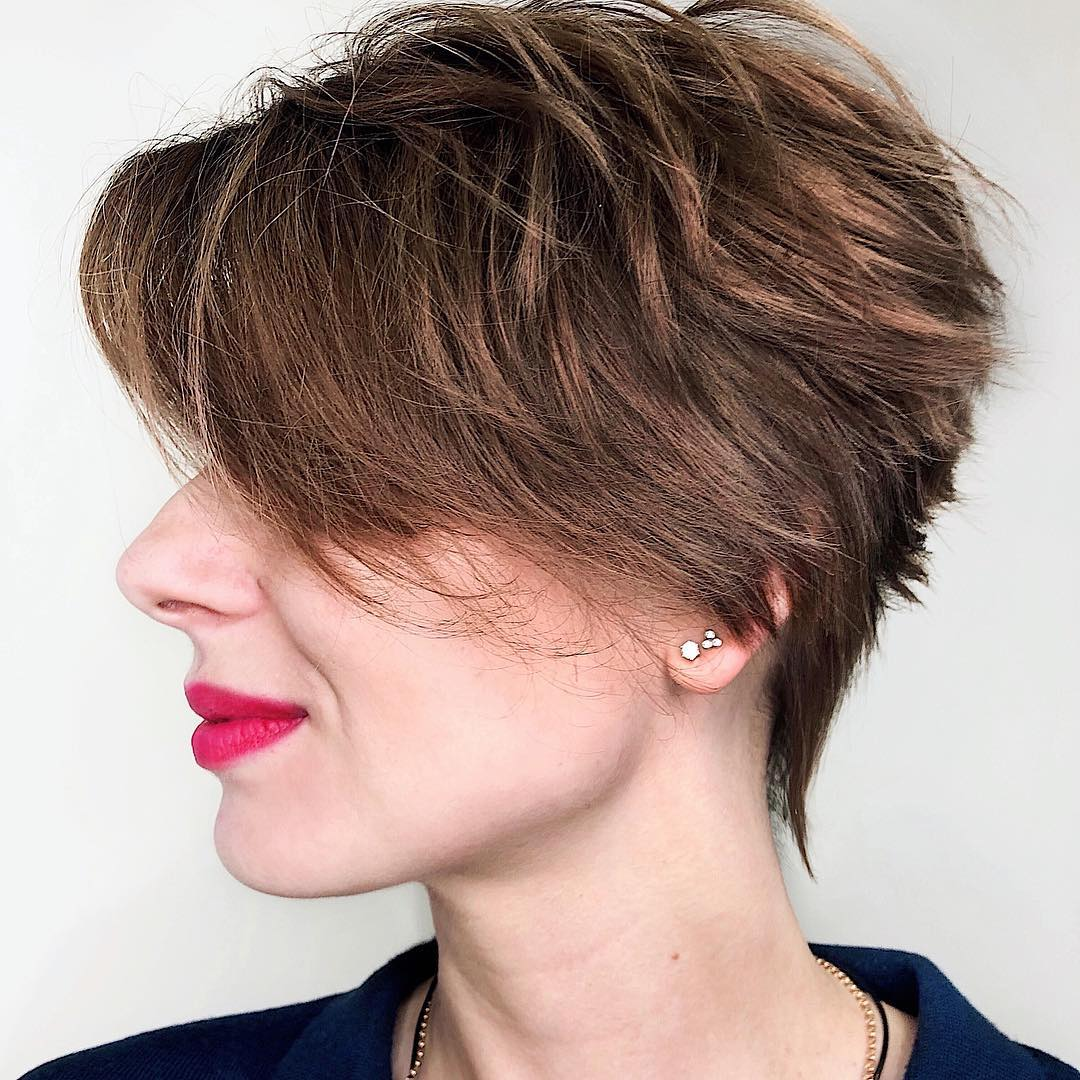 Tapered Pixie with Feathered Layers