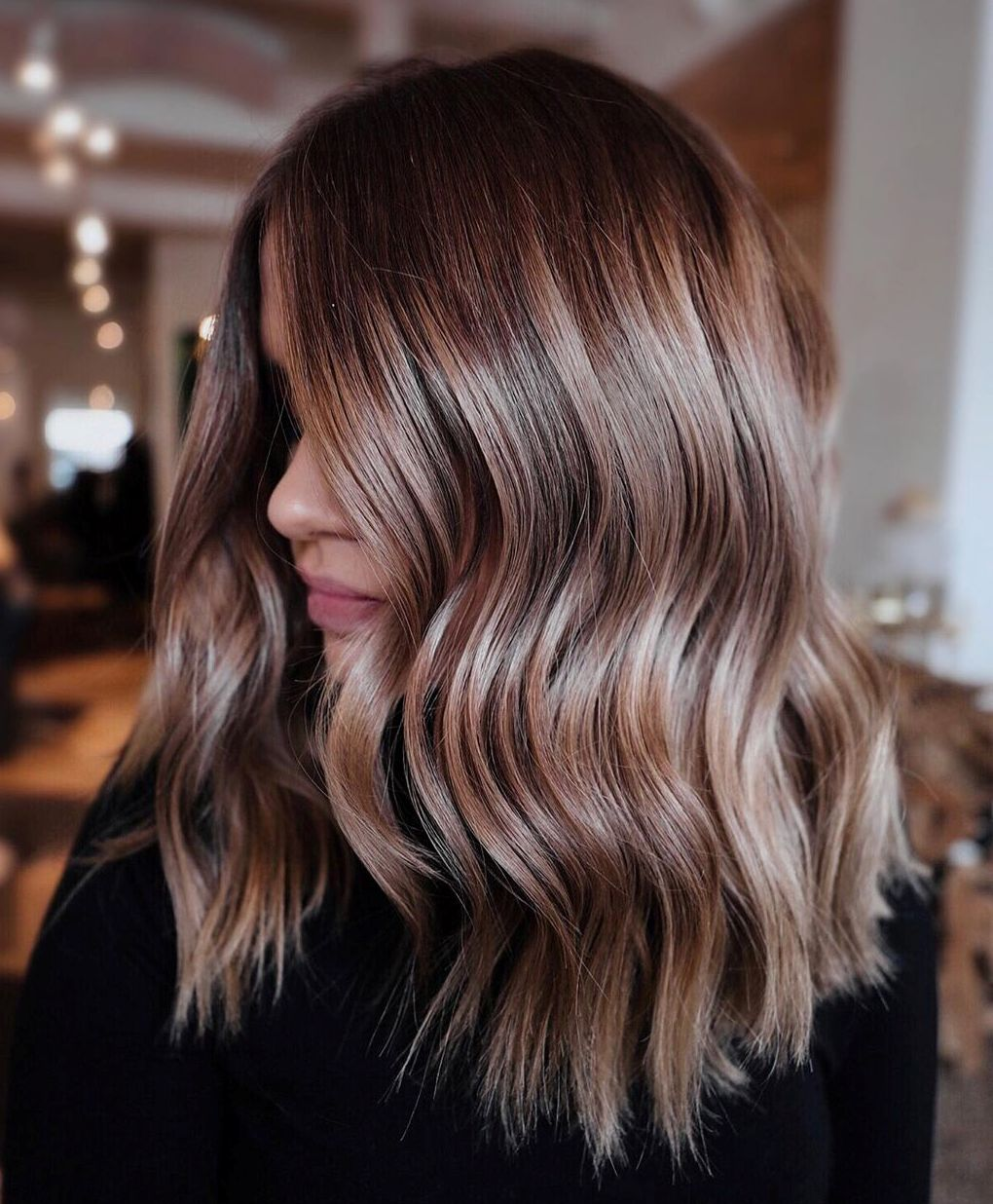 Medium Bronde Balayage Hair Color