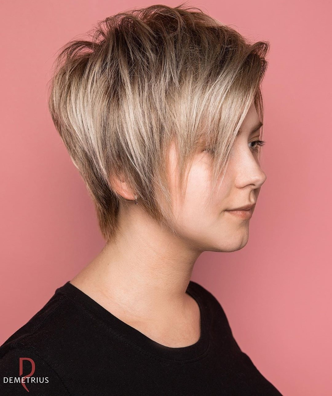 Outgrown Pixie with Highlights