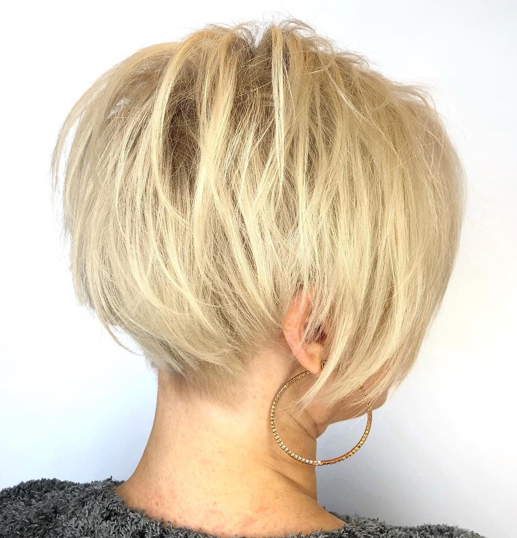 Teased Textured Pixie Cut