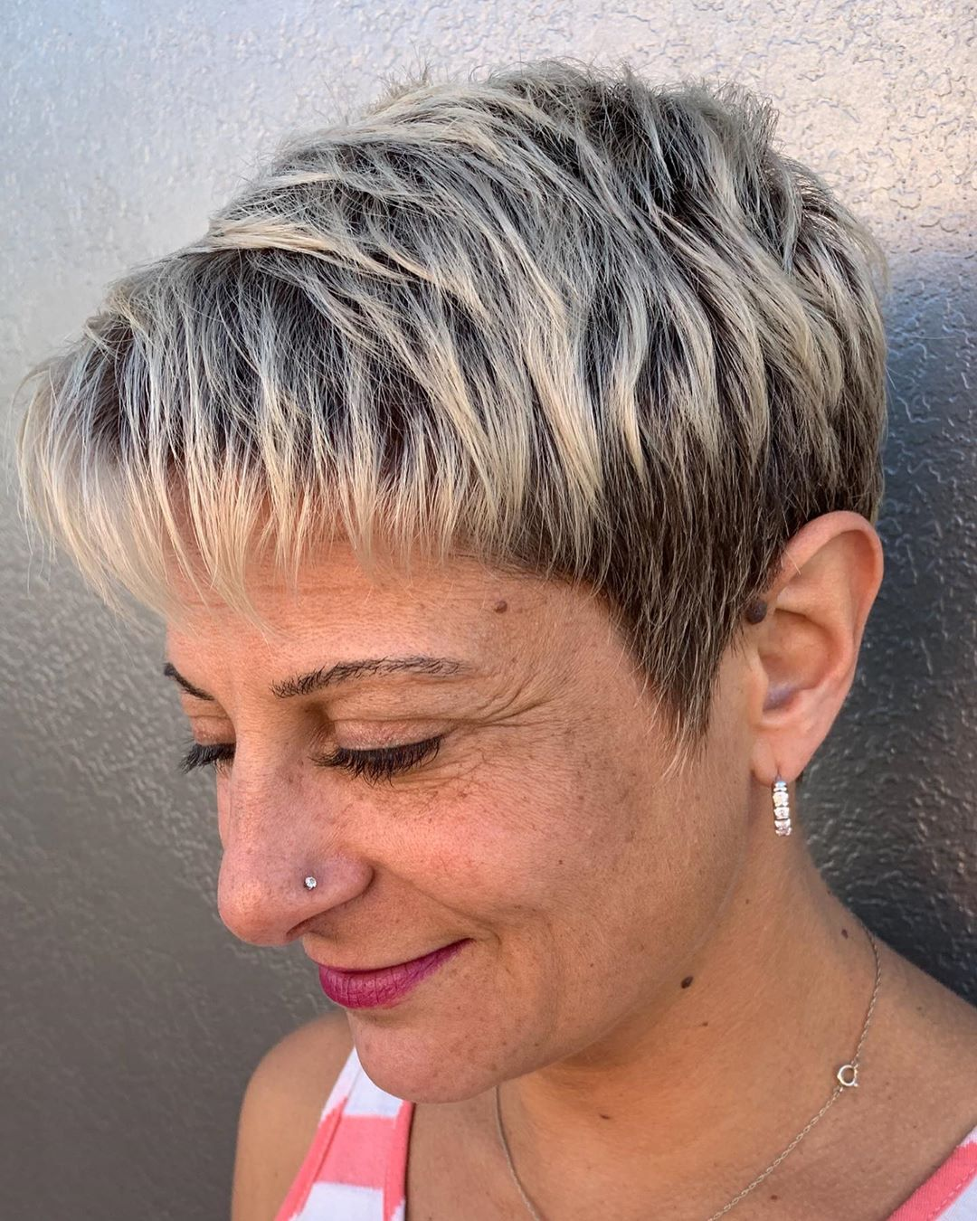 Really Short Pixie with Highlights