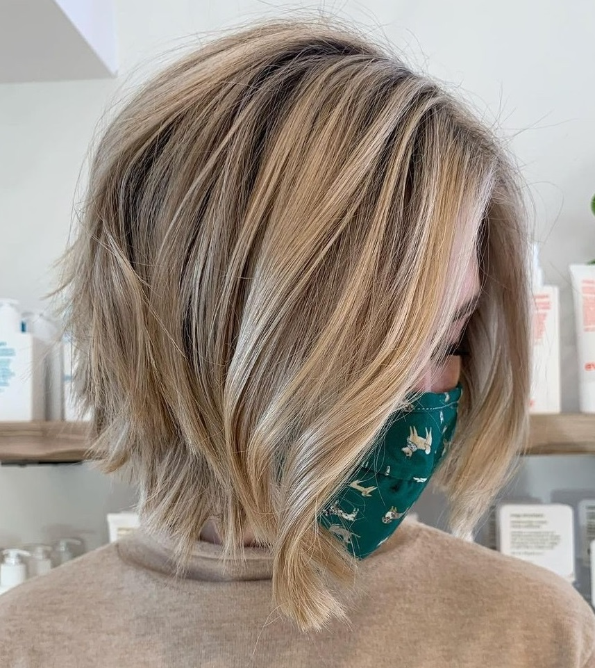 Blonde Bob with Feathered Ends