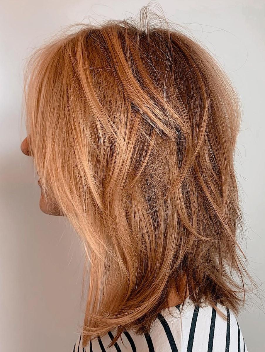 Piece-y Shag for Thin Hair
