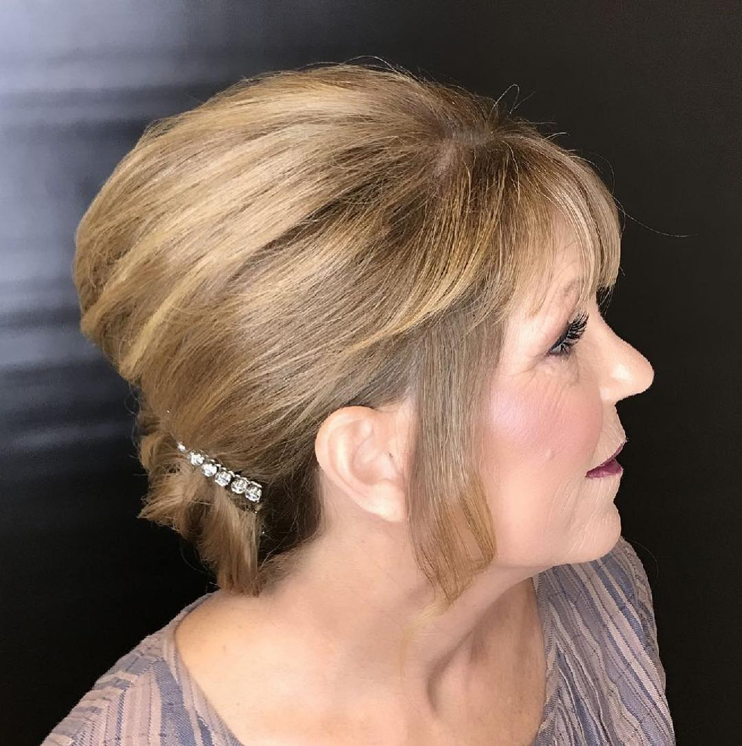 Bouffant Updo for Short Hair