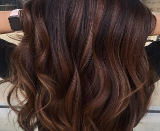 Two-Tone Dark Chocolate Hair Color