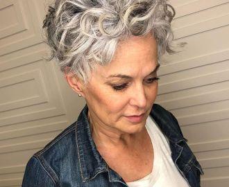 Curly Short Gray Haircut 2020