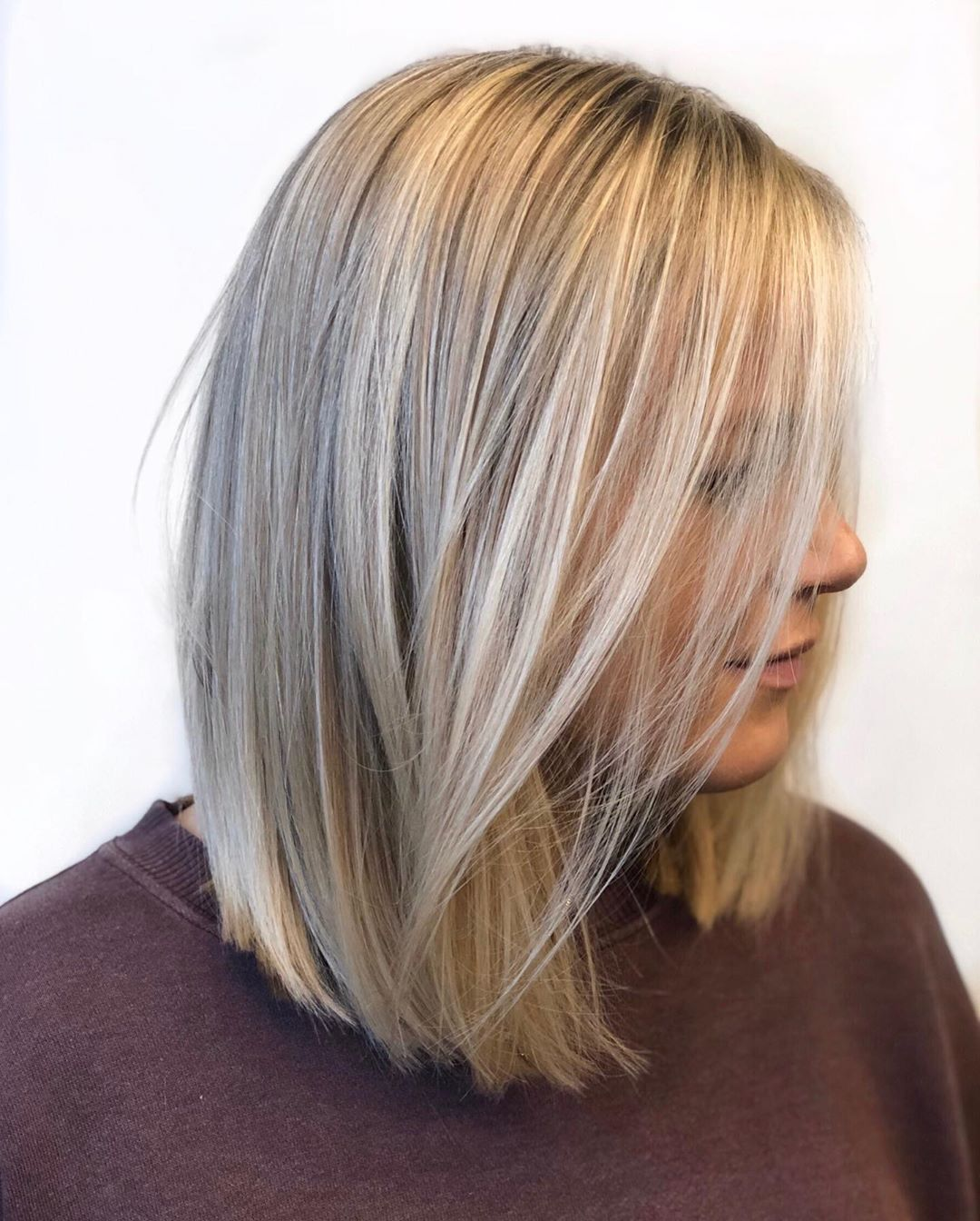 Long Sleek Bob Hairstyle