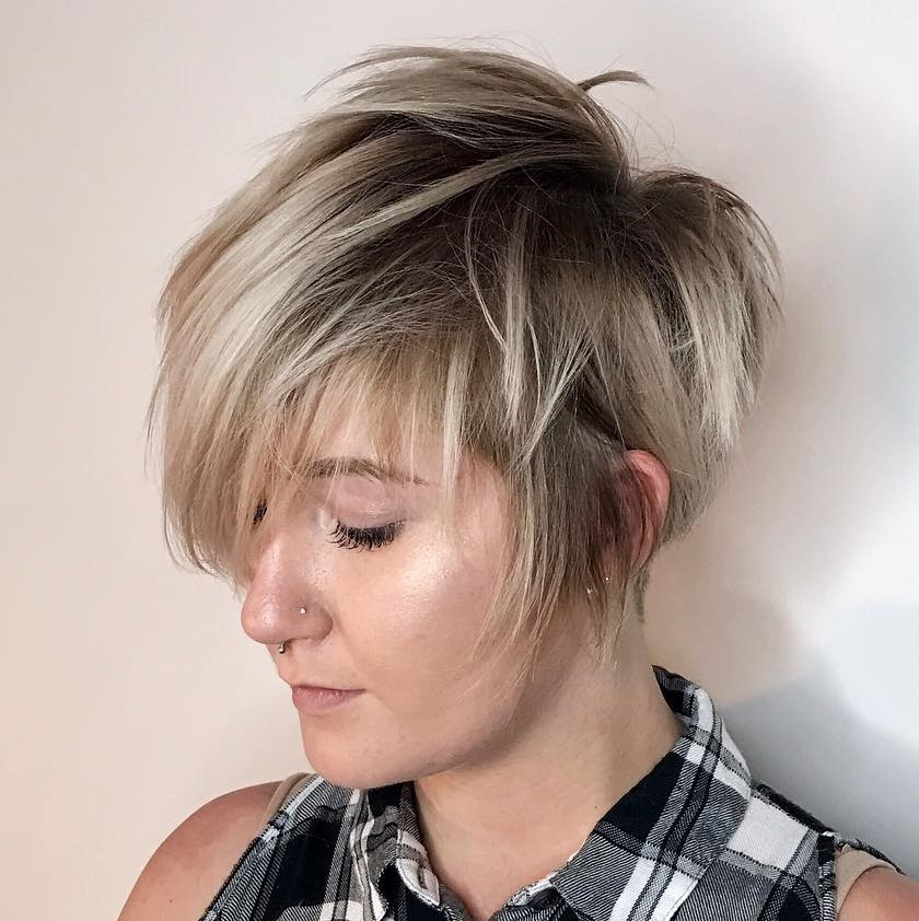 Shaggy Choppy Pixie with Highlights