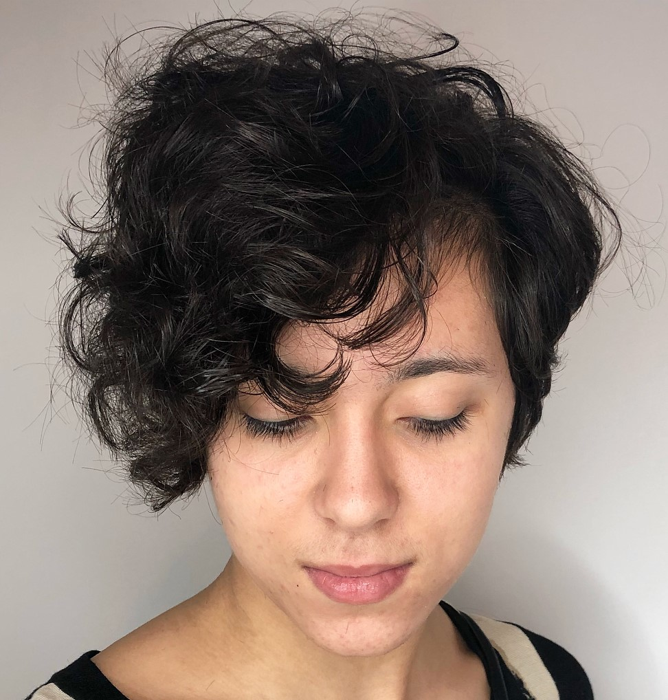 Trendy Pixie Style for Curly Hair