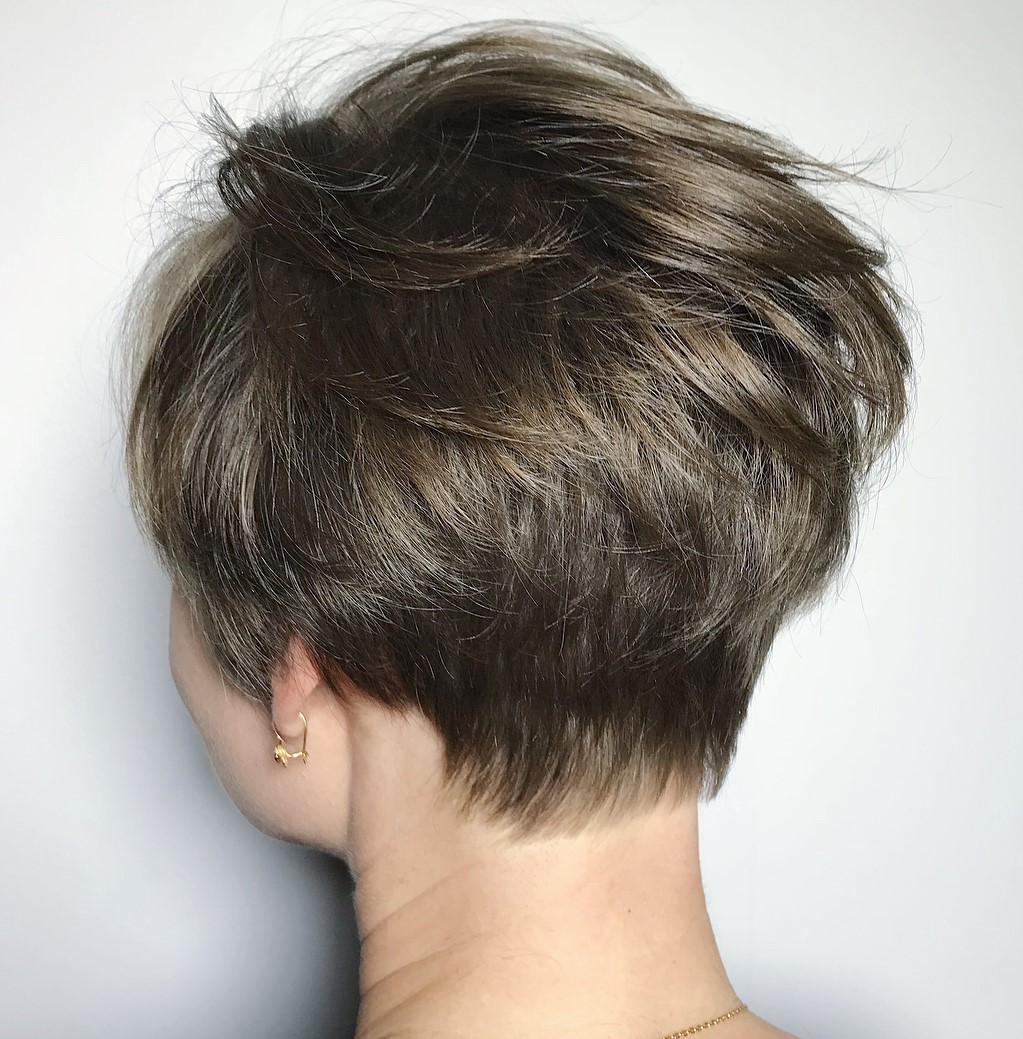 Feathered Pixie for Fine Hair
