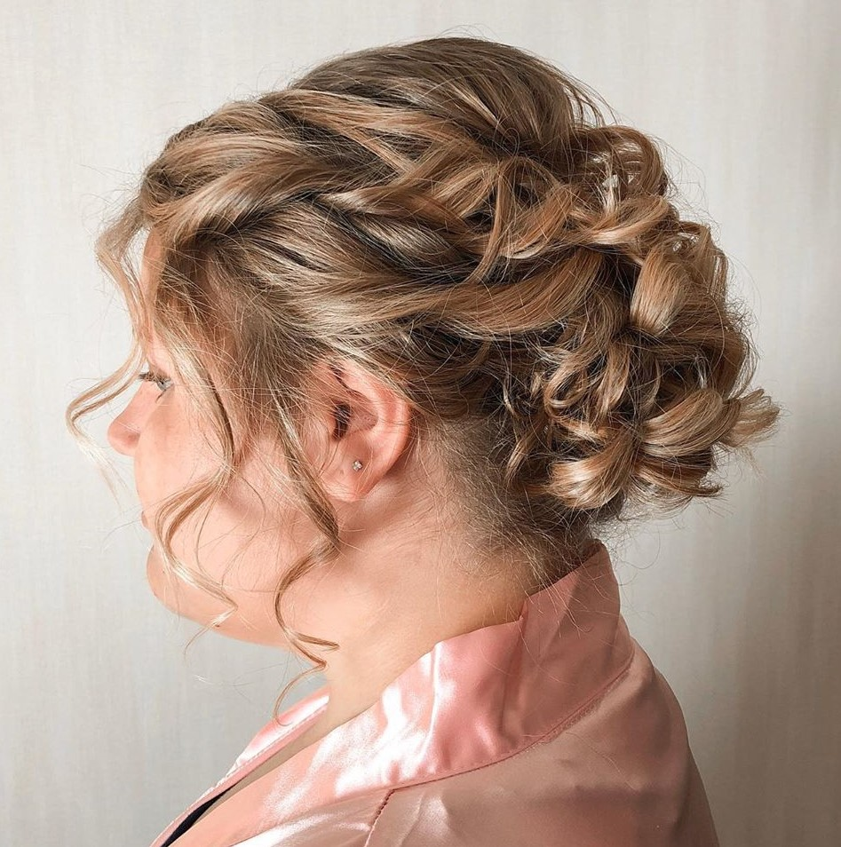 Short hair Updo for Overweight Women