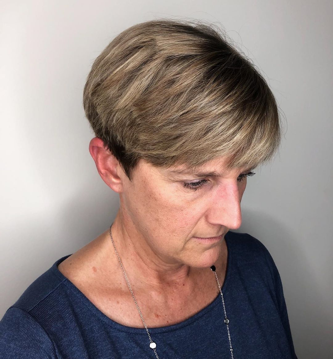 Very Short Pixie with Balayage Highlights