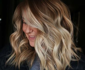 Bright Blonde Highlights for Bronde Hair