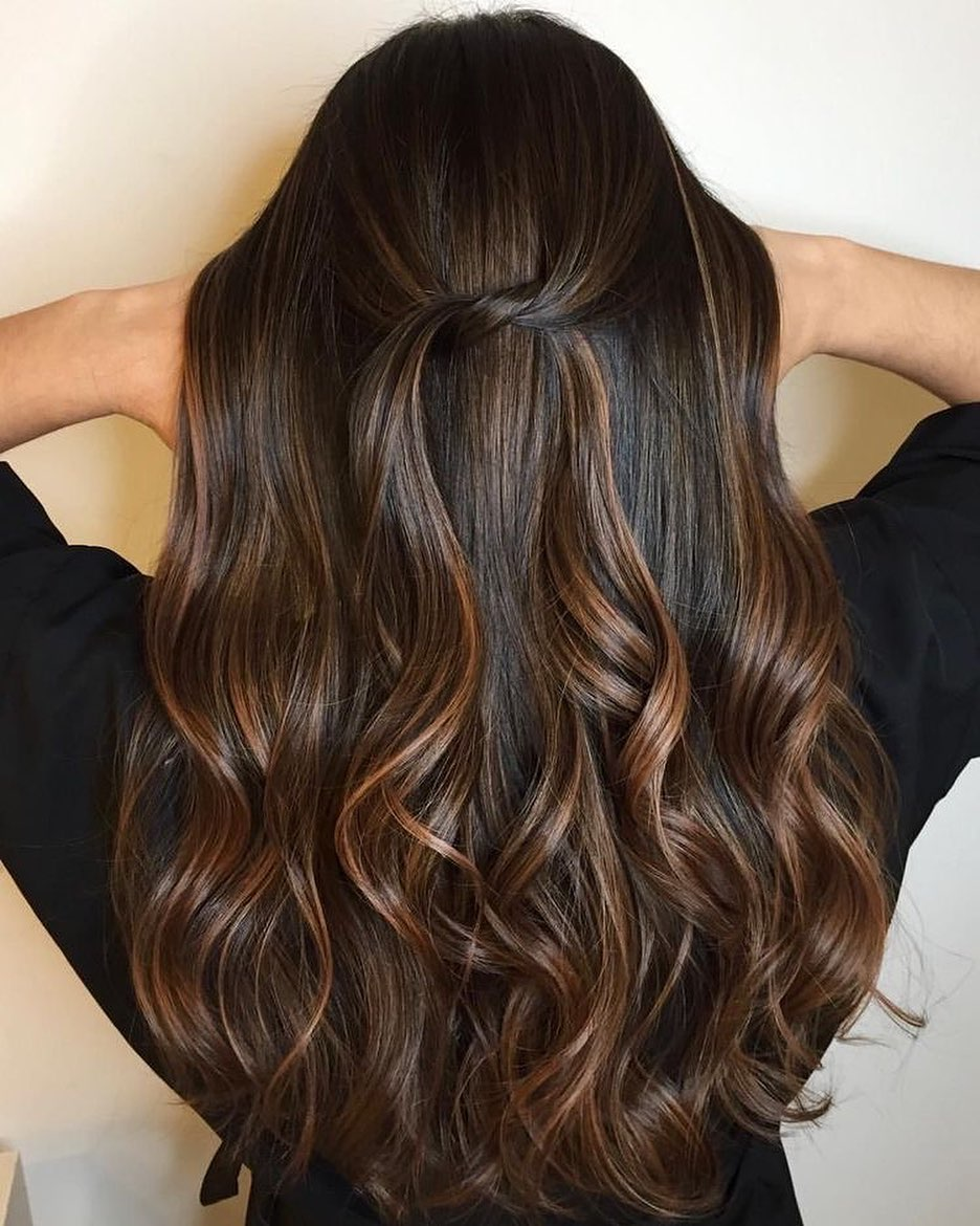 Cute Brown Balayage Hair Color