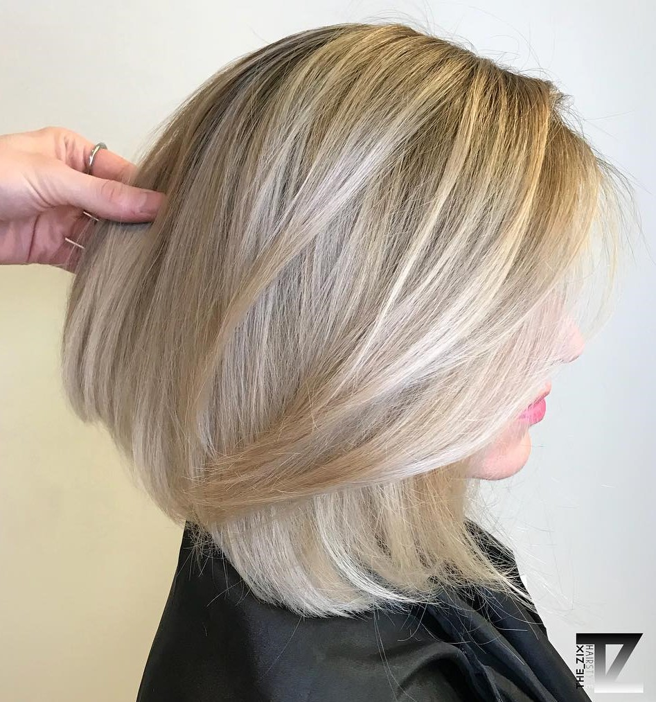 Medium Blowout Hairstyle for Women
