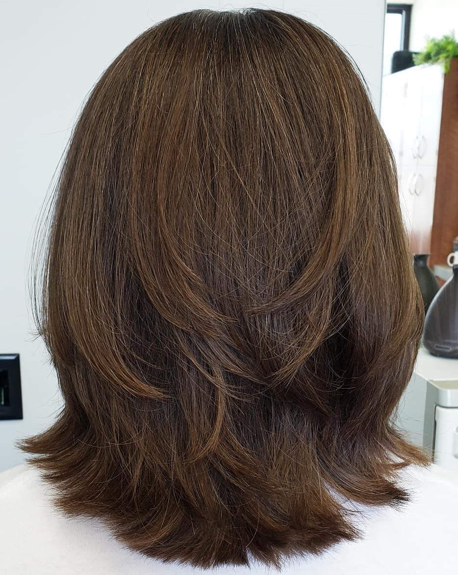 Medium Feathered Haircut