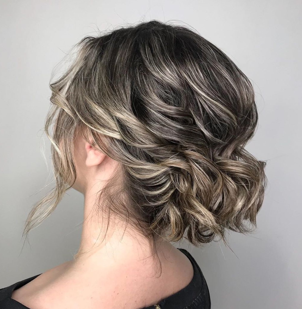 Loose Updo for Neck-Length Hair