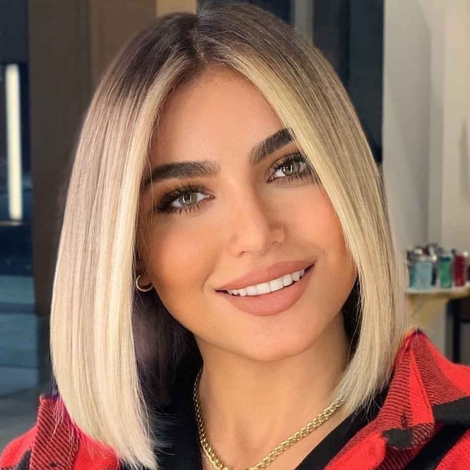 Medium Length Hairstyle for Straight Hair