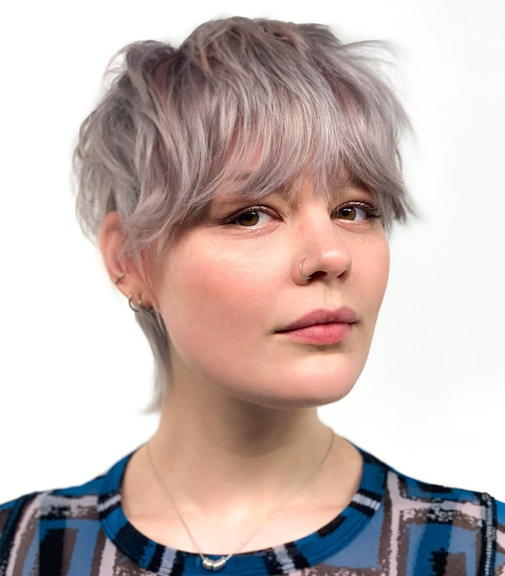 Trendy Pixie for Round Faces
