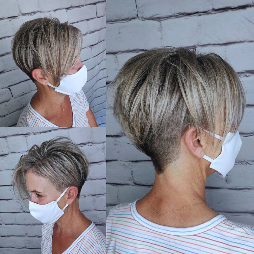 Undercut with Long Side Bangs