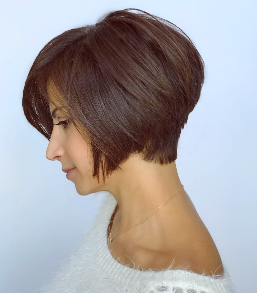 Stacked Pixie Bob Cut