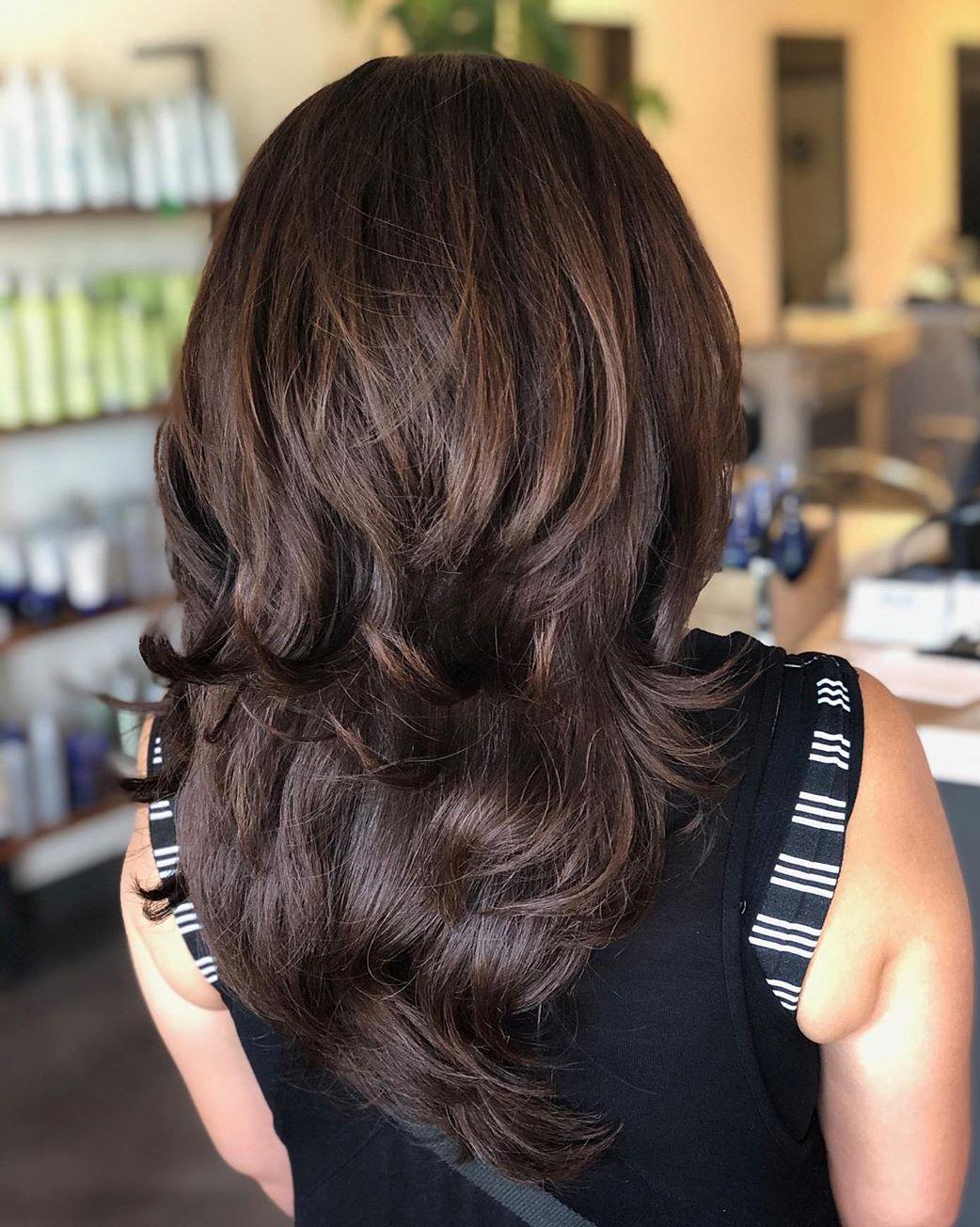 Bra-Strap Length Layered Haircut
