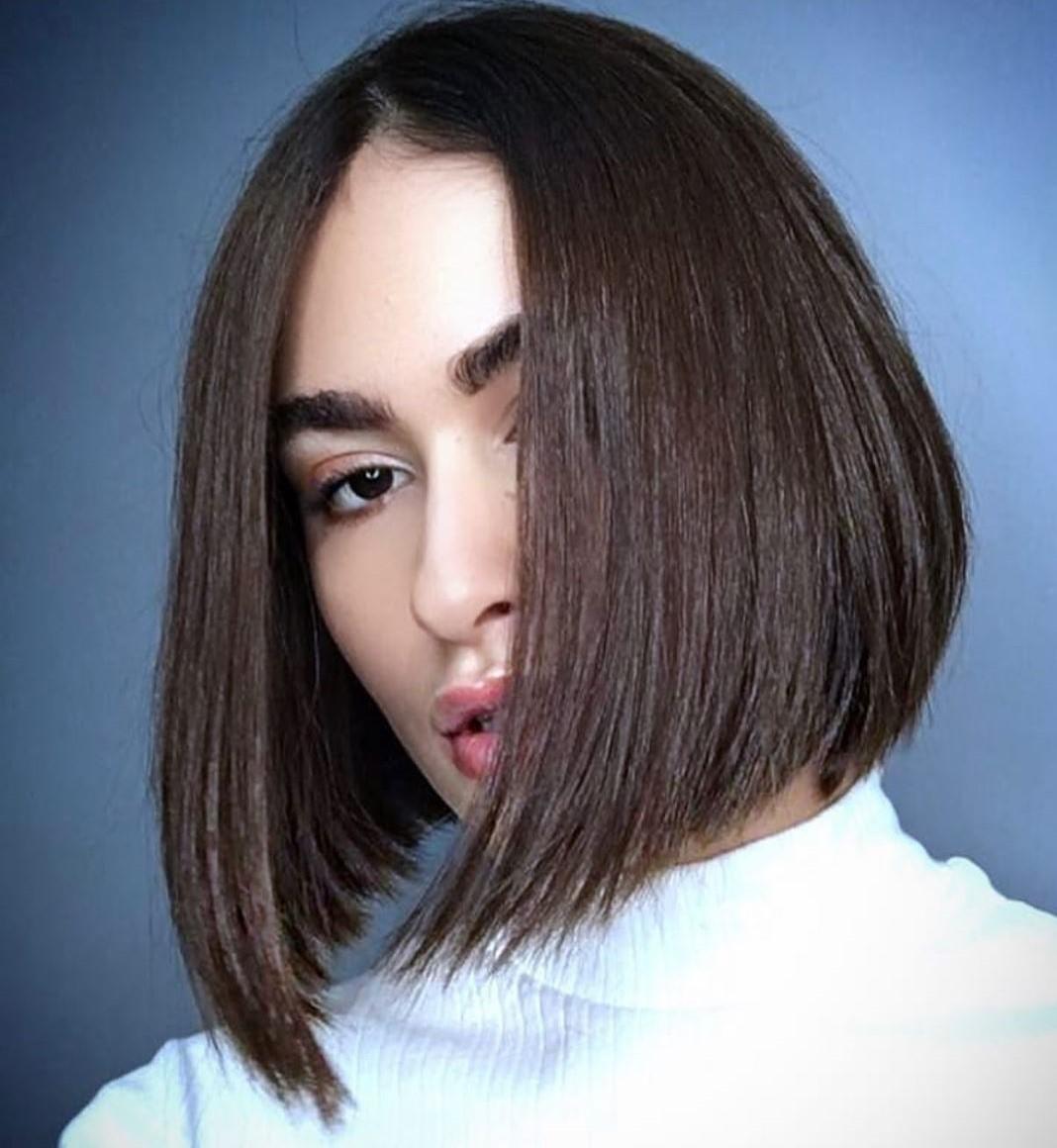 Neck-Length Asymmetrical Haircut