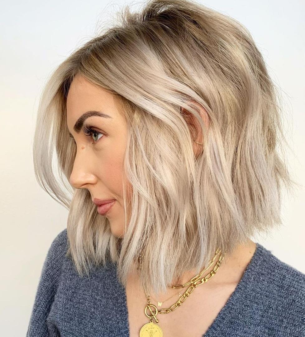 Blonde Choppy Bob Hair Idea