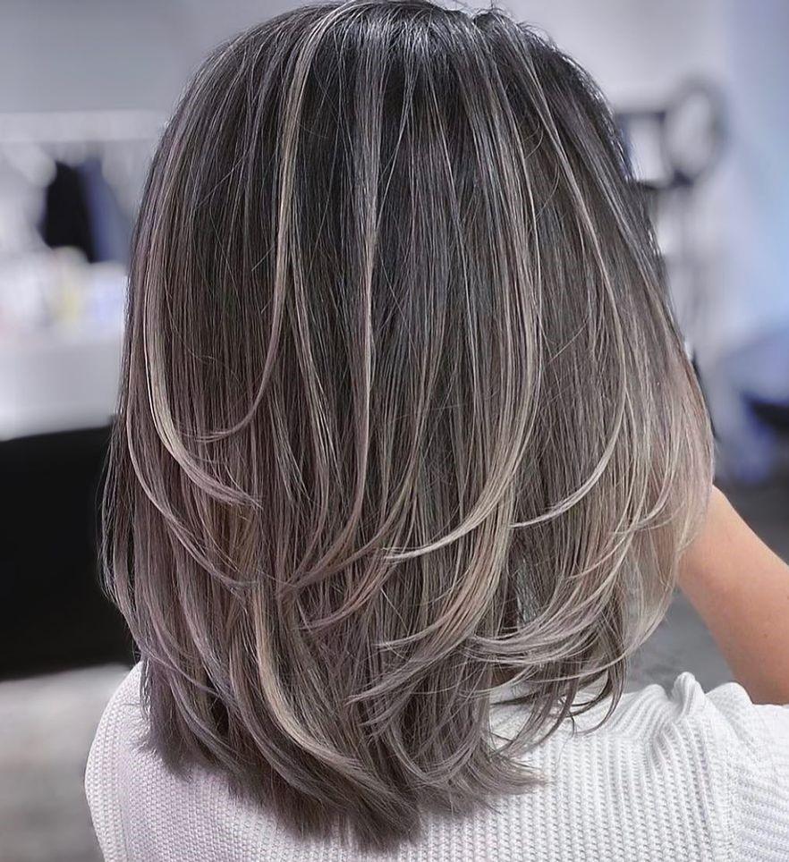 Elegant Medium Piece-y Haircut