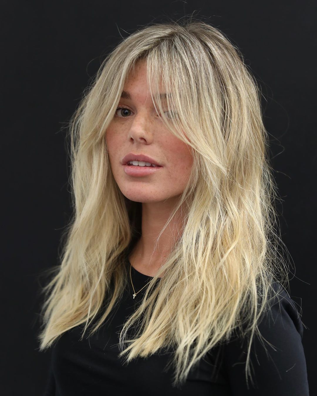Mid Length Hair with Layered Ends