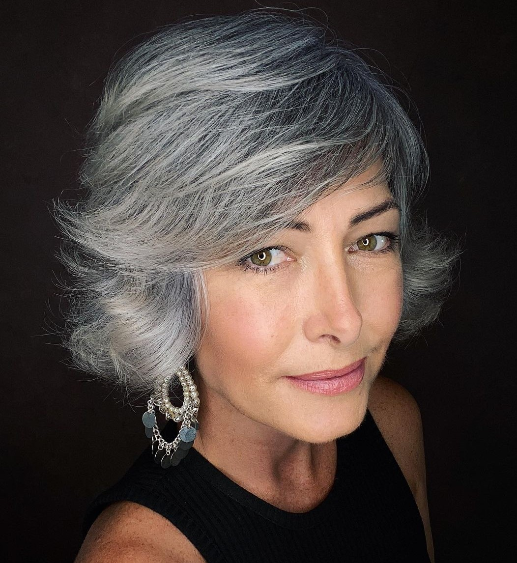 Silver Hair with Salt-and-Pepper Roots