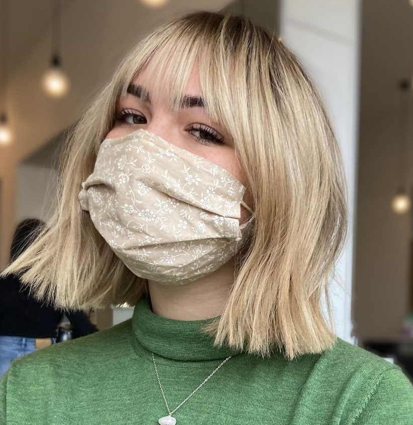 Blunt Cut Bob with Wispy Bangs