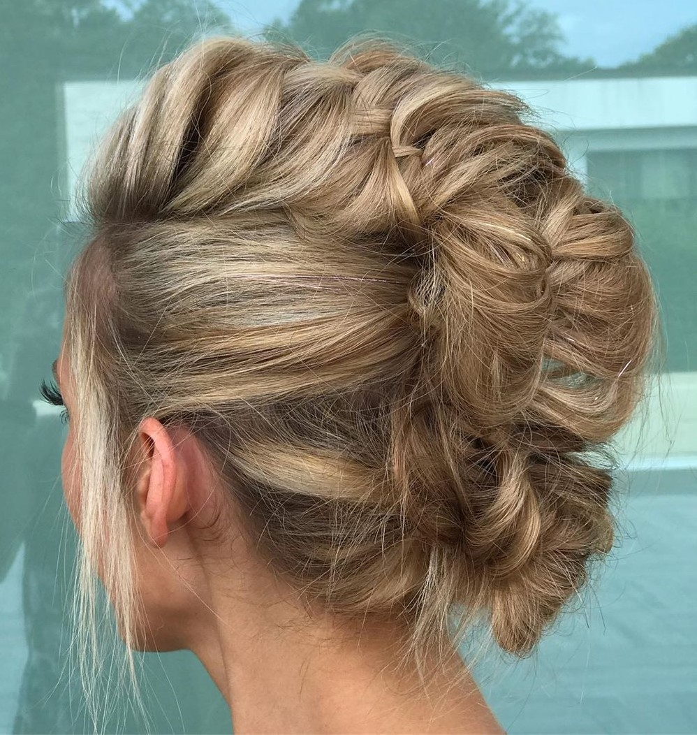 Fishtail Braid Updo for Fine Hair