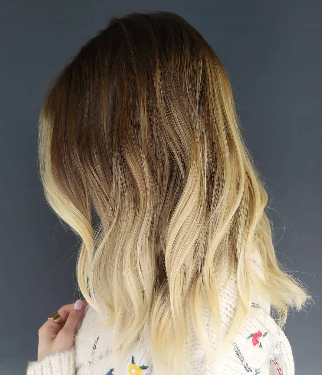 Blonde Ombre for Short-to-Medium Length Hair