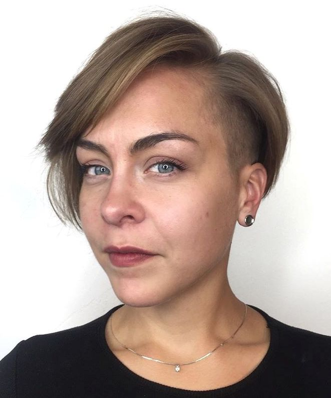 Asymmetrical Pixie Bob with Side Undercut