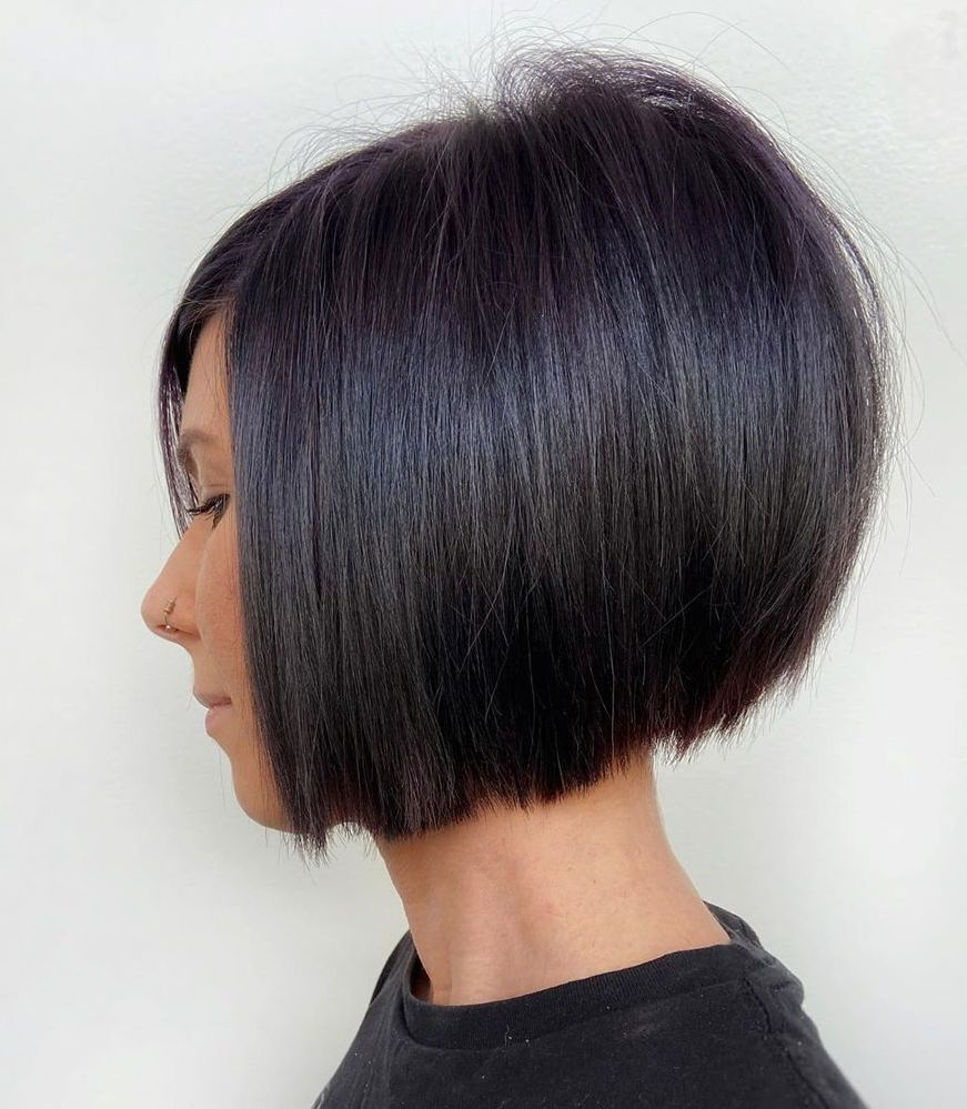 Slicked Stacked Bob Hairstyle