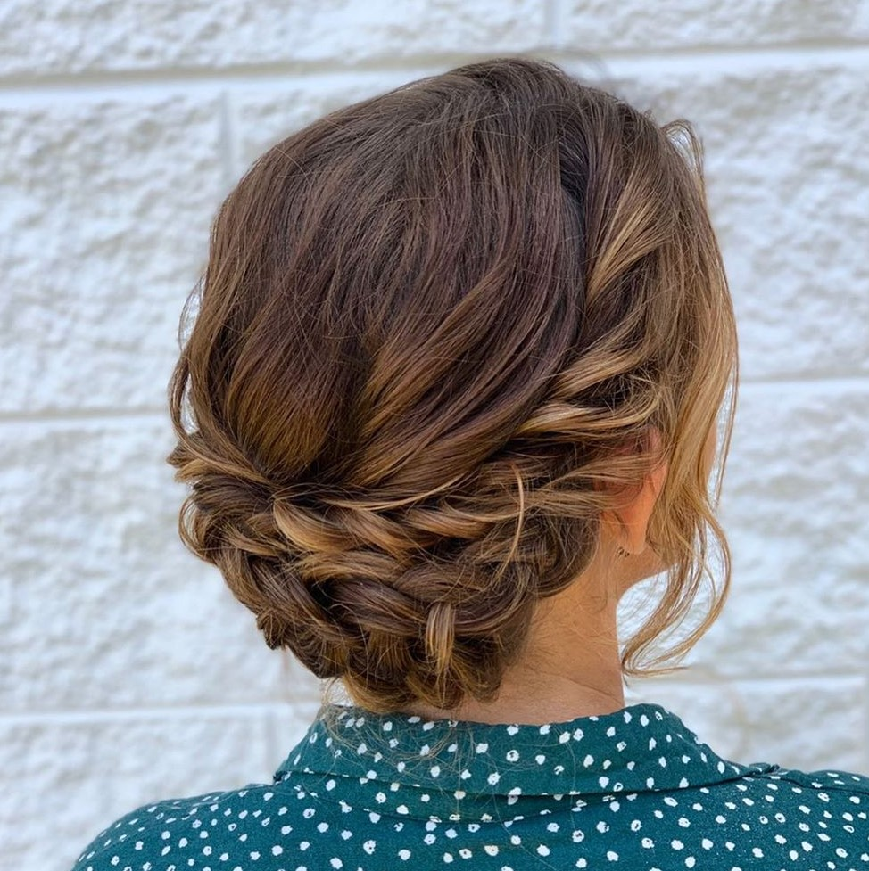 Braided Updo for Shoulder-Length Fine Hair