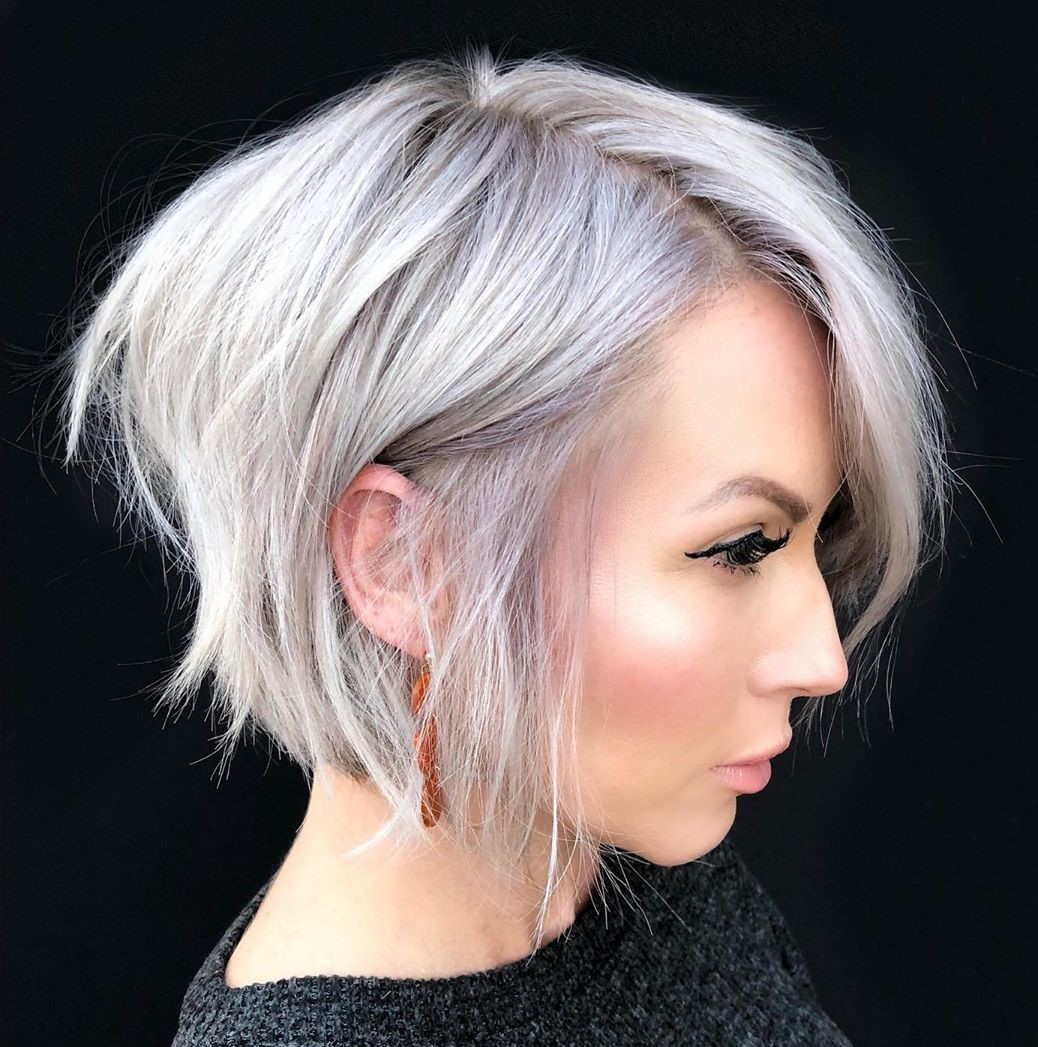 Short Shaggy Bob for Fine Thin Hair