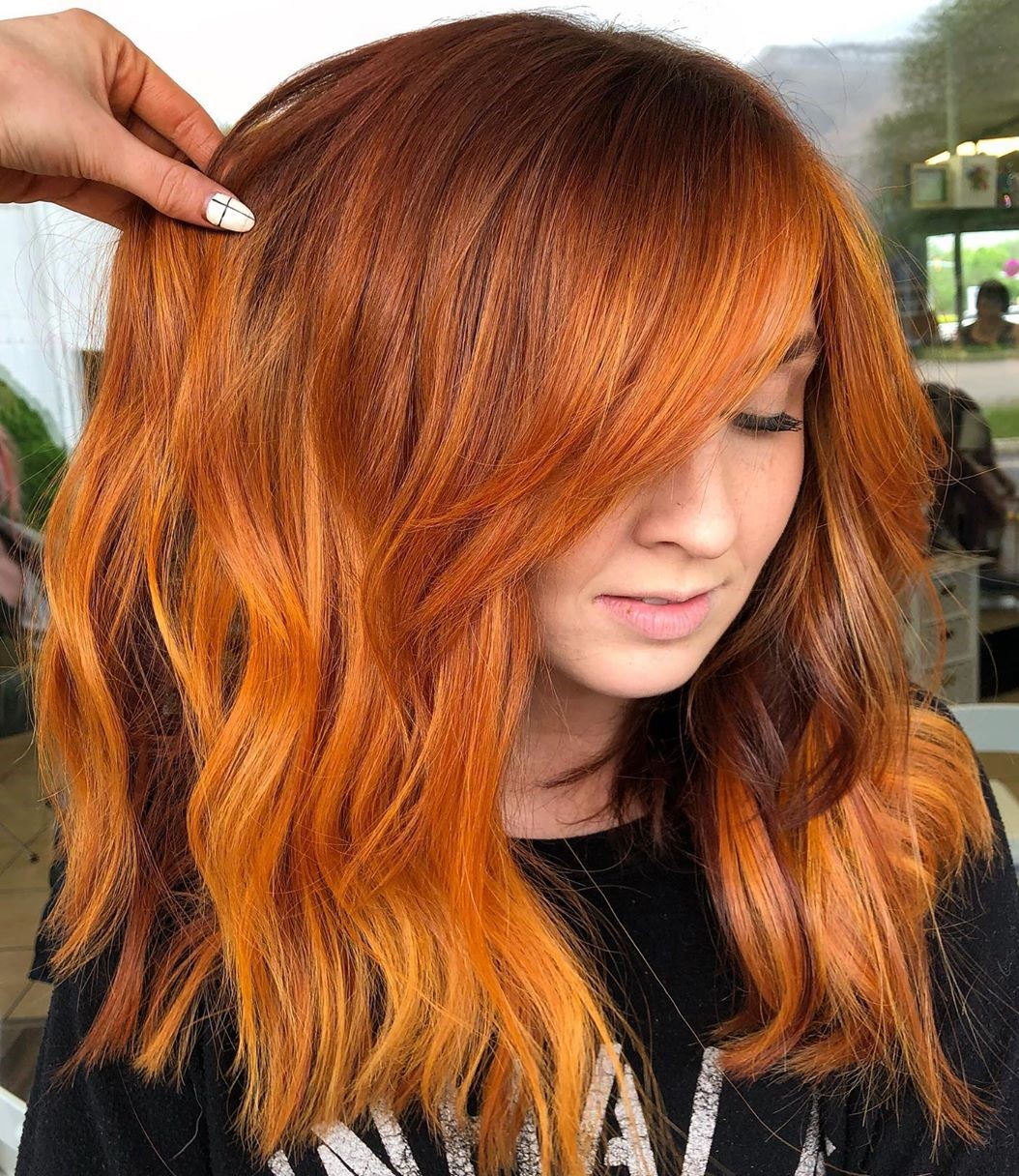 Red Hair with Ginger Highlights