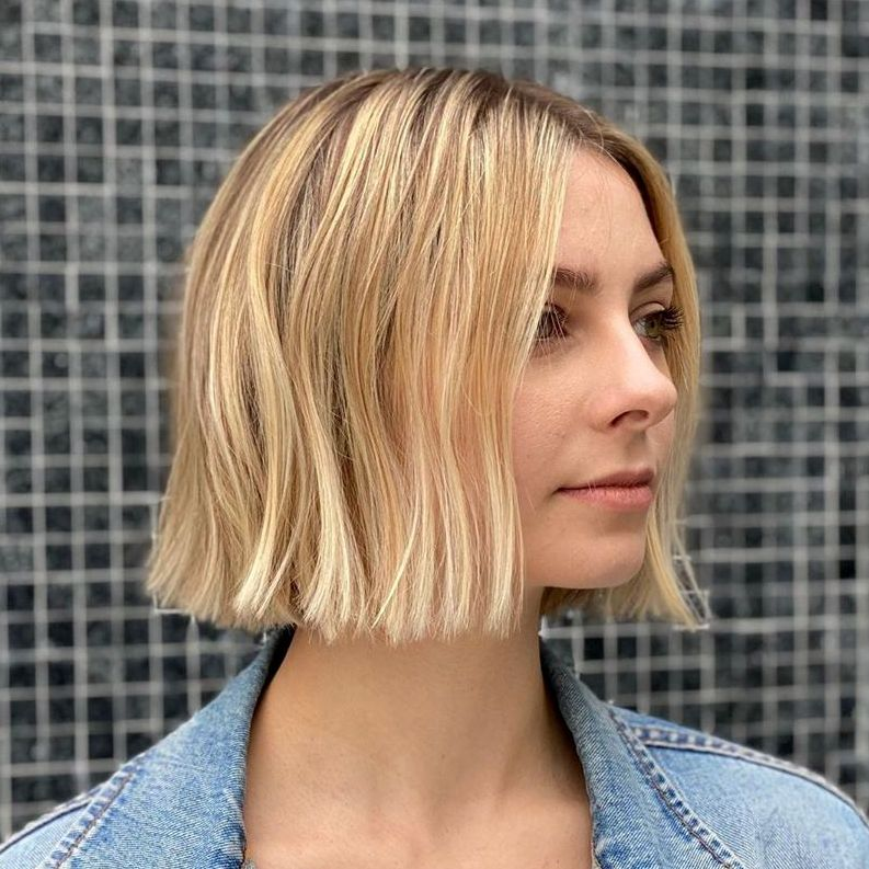 Medium One-Length Bob