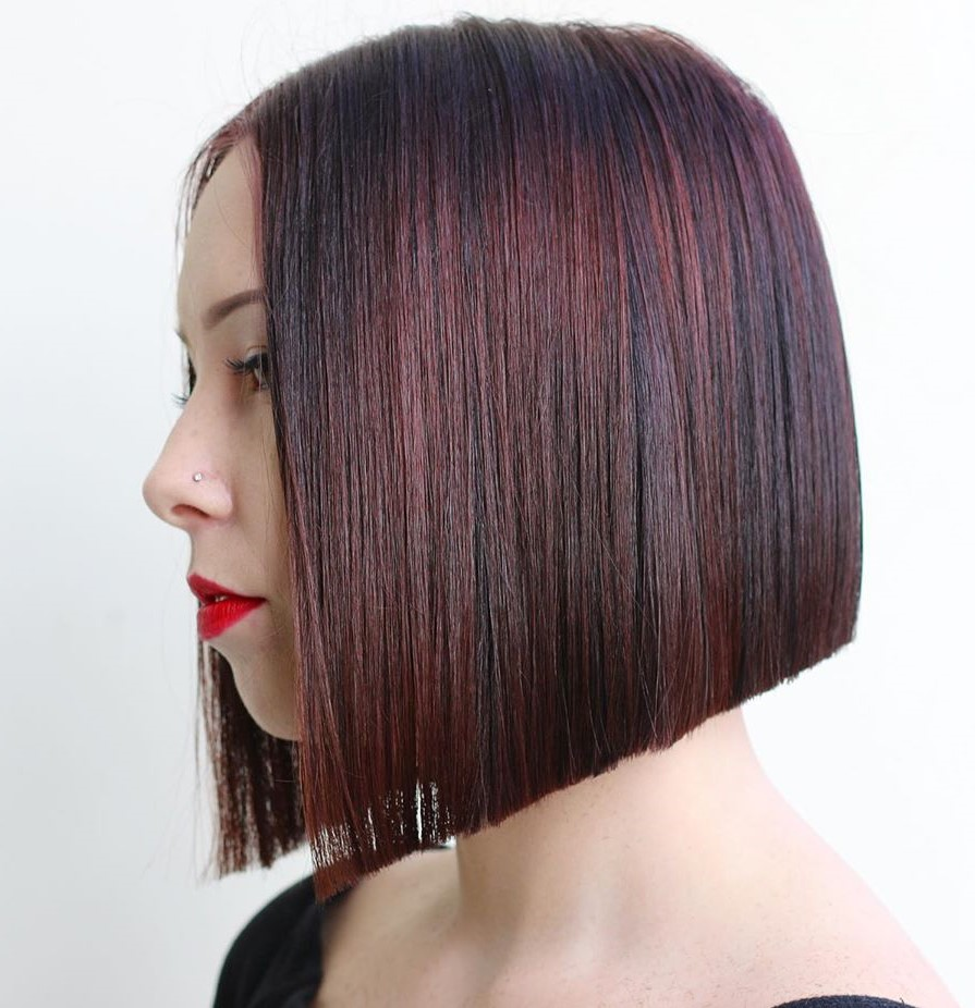 Blunt Angled Bob for Fine Hair