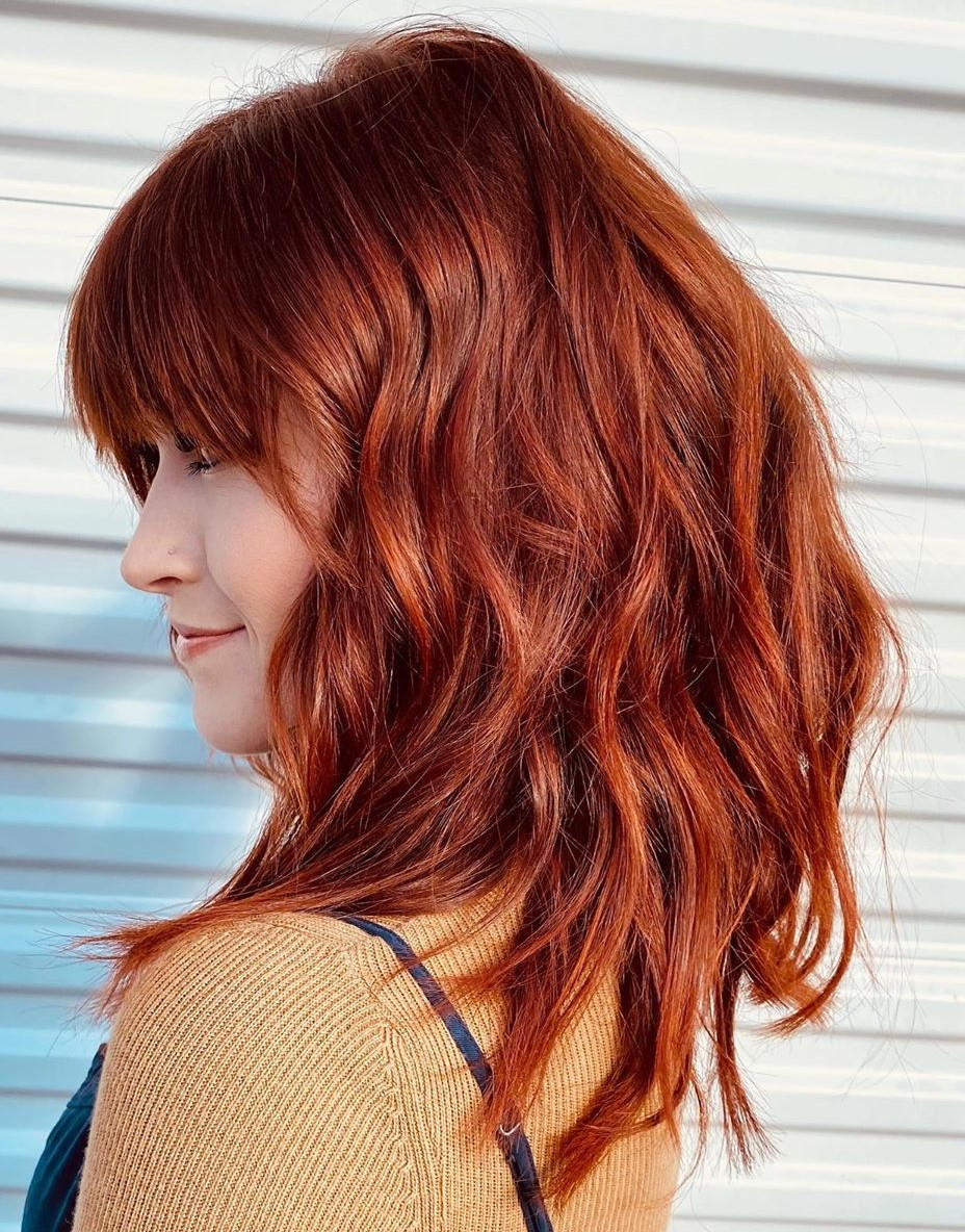 Natural Reddish Brown Hair Color