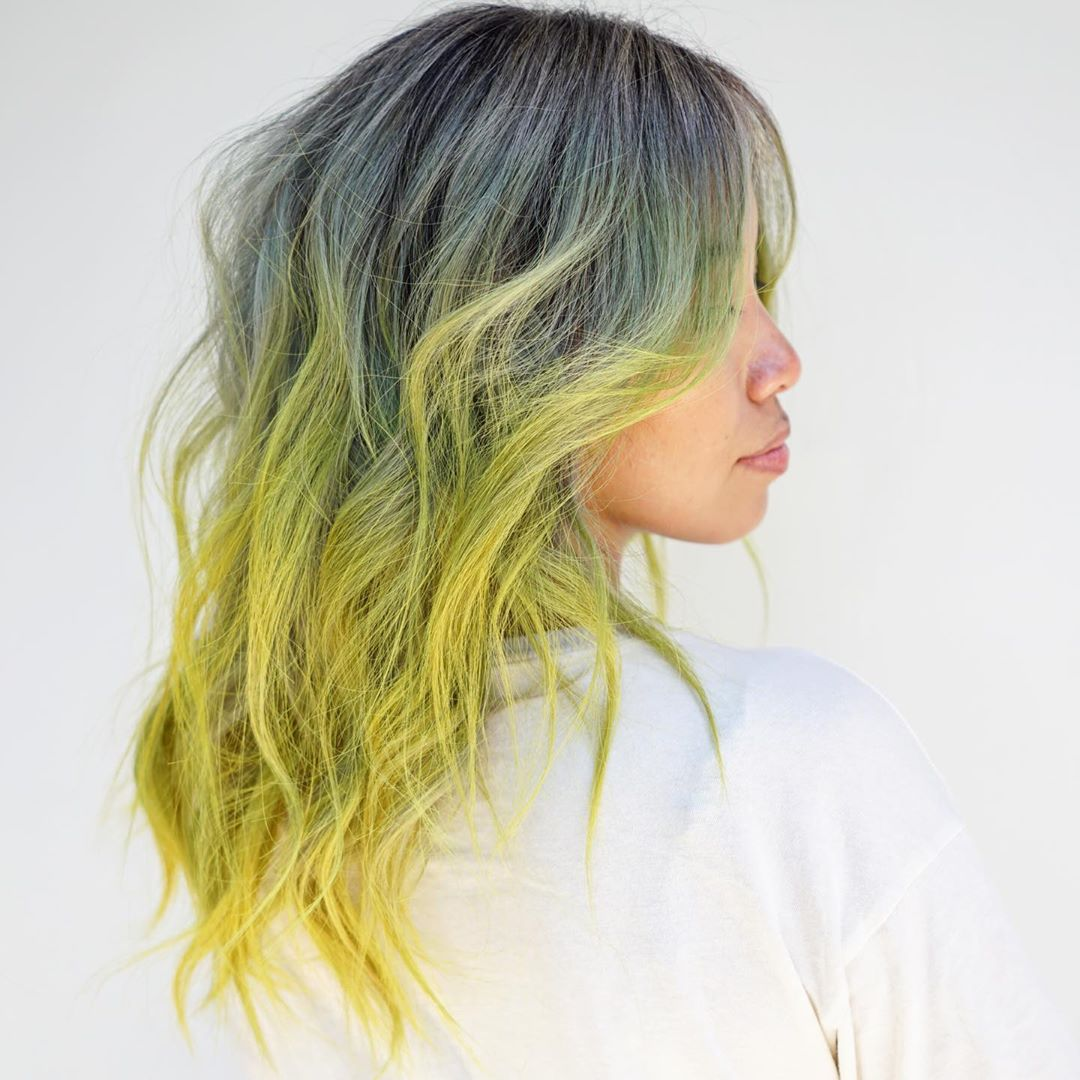 Neon Yellow Ombre Hair