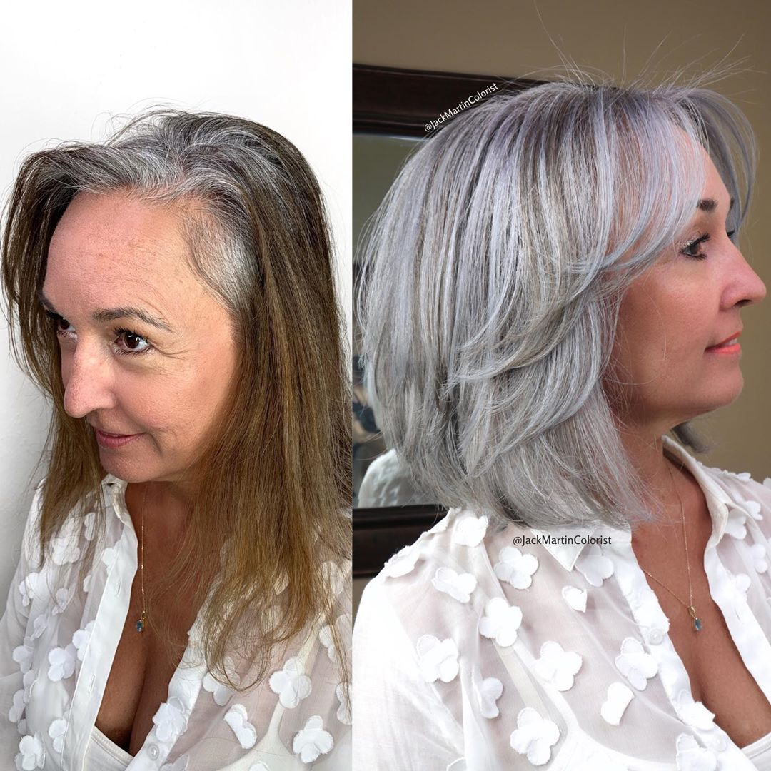 Silver Gray Hairstyle