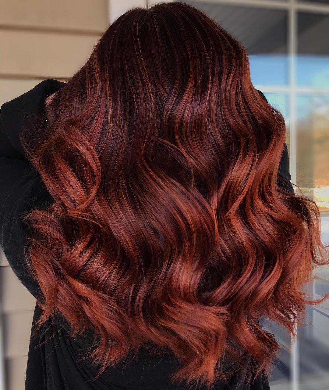 Rusty Balayage Hair